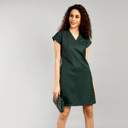 Sadolin Green Back Pleat Dress