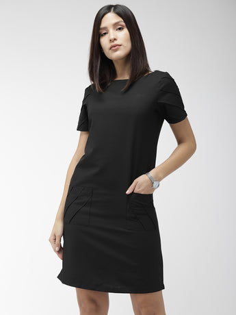 Deep Black Sheath Dress