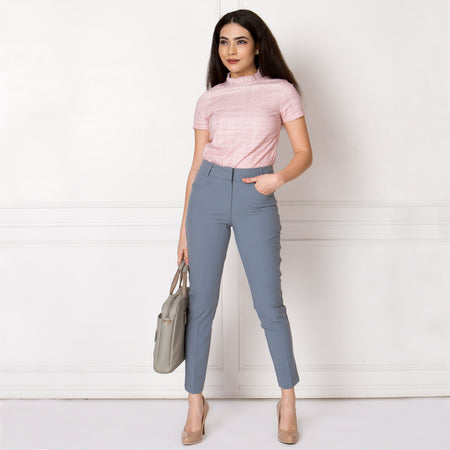 Cool Grey Slim Fit Trousers