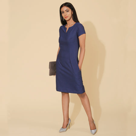 Royal Blue Jacquard AM to PM Dress
