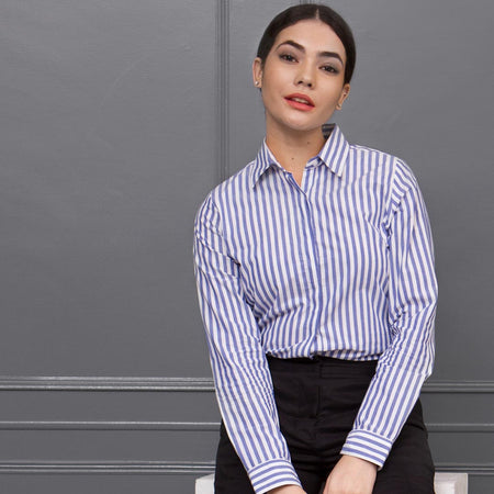 Blue and White Stripes Regular shirt