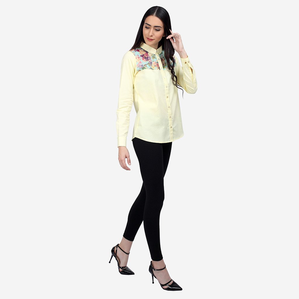 Cotton and Silk Formal Pastel Shirt