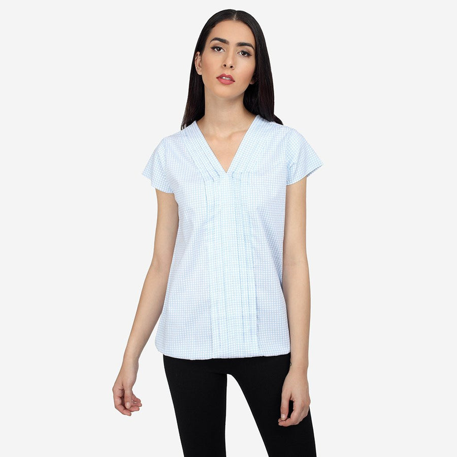 Ombré Lane Cotton Formal Top with Pleats tops for women womens formal tops  Semi formal garments buy semi formal work clothes online luxury tops and shirts tops online for women cotton and linen tops silk tops dressy tops semi-formal work wear top no gape shirts and tops women tops Poly georgette tops Solid Layered tops Relaxed casual wear Chic Casual Wear long sleeve tops blouse tops in lace women's tops with long sleeves women tops online