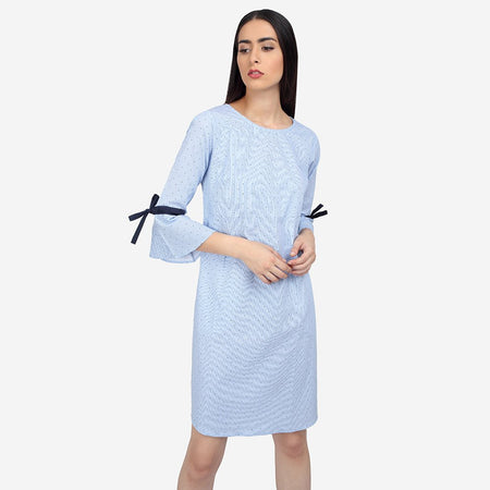Stylish work dresses women's dress online shopping in india career dresses for work black blue A-line dress sleeveless dress