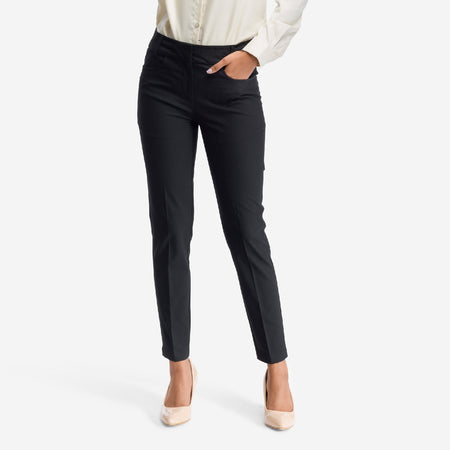 Black Slim Fit Formal Trousers