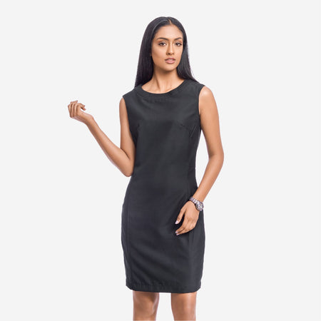 Formal Little Black Sheath Sleeveless Dress