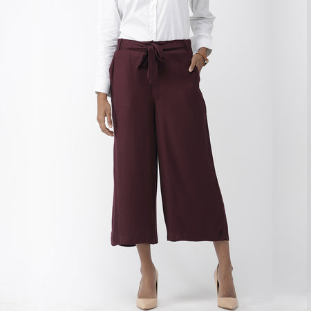 Maroon Ultra Soft Work Culottes