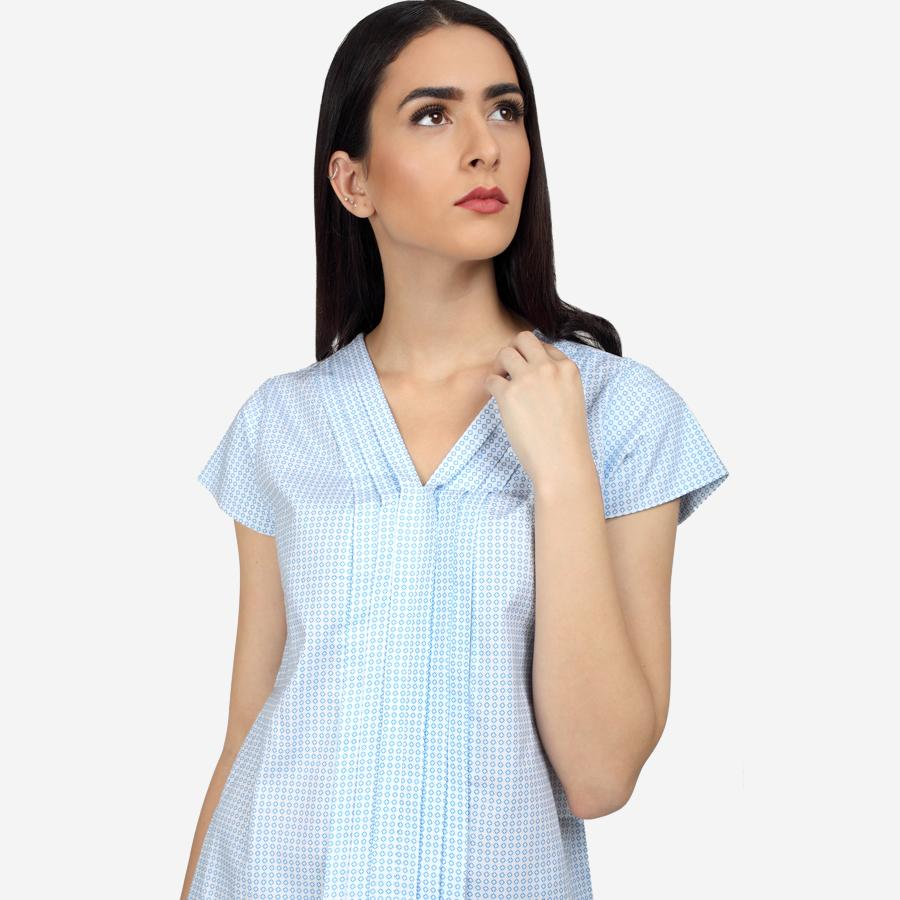 Cotton Formal Top with pleats