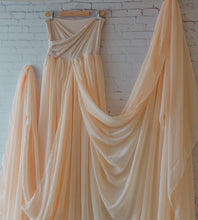 Peachy natural Rachel gown, very flowy!