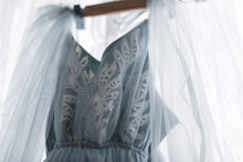 Wedgewood french lace and tulle maternity gown.   Plus mini version