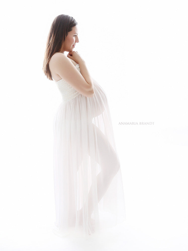 Simple sheer mama gown