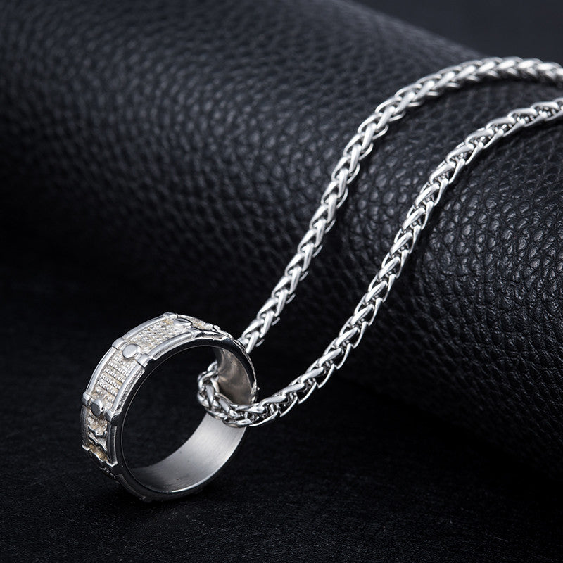 Snare Drum Ring Necklace