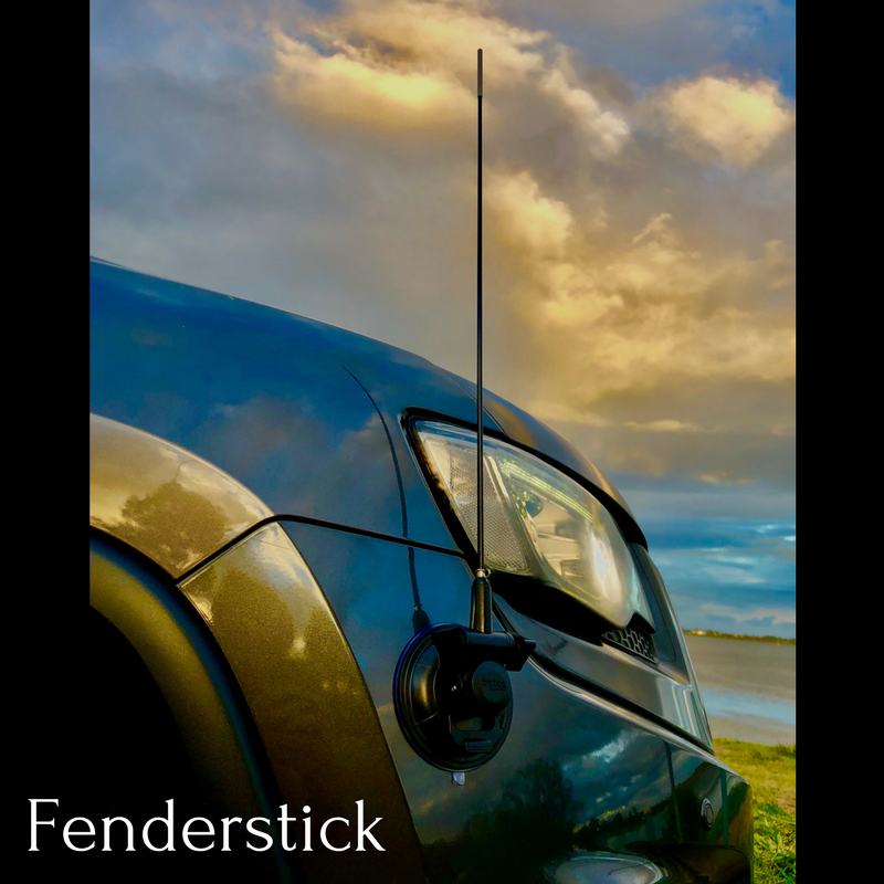 Fenderstick bumper guide pole