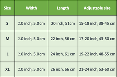 spiked collar size chart - pet bonito