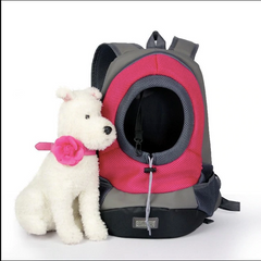 Pet Dog Backpack Carrier; Portable Travel Puppy Sling Shoulder Bag;