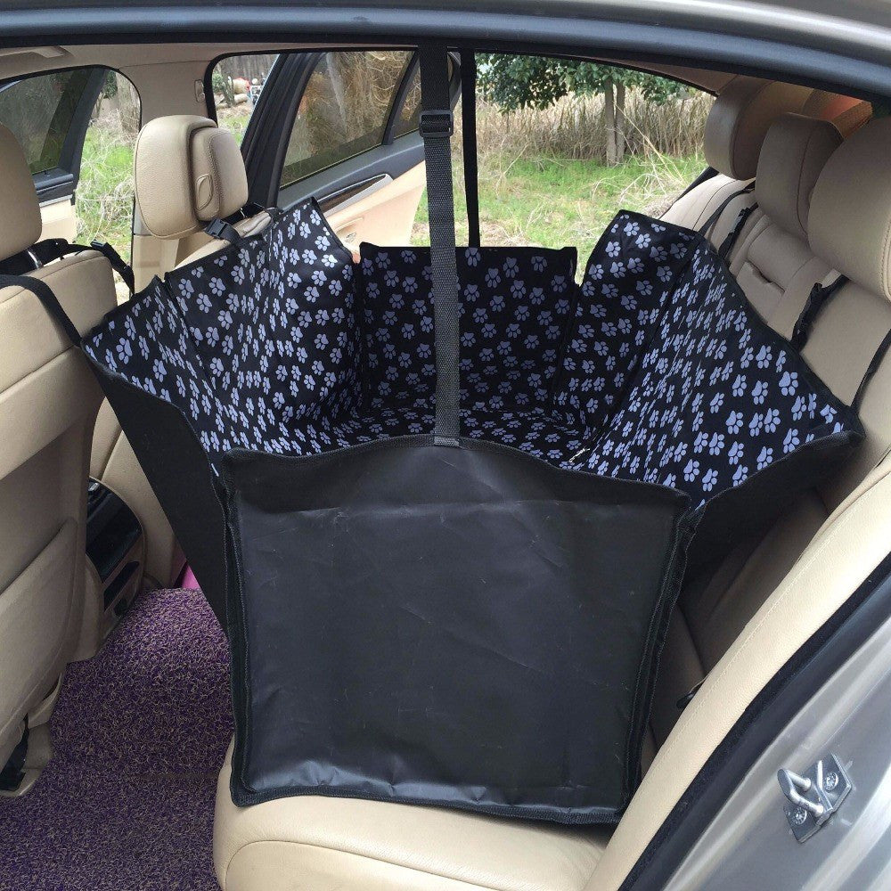 Car Pet Seat Cover; Oxford Fabric Paw Pattern; Pet Travel ...
