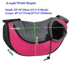 Dog Carrier - Pet Carrier; Puppy Dog Cat Sling; Travel Pet Shoulder Bag Backpack;
