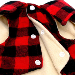 Dog Clothes - PET BONITO: Dog Plaid Vest ~ Winter Windproof Cotton Dog Jacket ~ Warm Coat For Cold Weather ~ Small Medium Dogs
