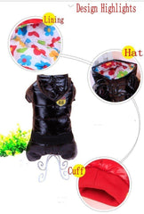 Dog Clothes - PET BONITO: Dogs Hooded Coat Winter Waterproof ~ Thick Down Jacket Clothing For Pet Dogs