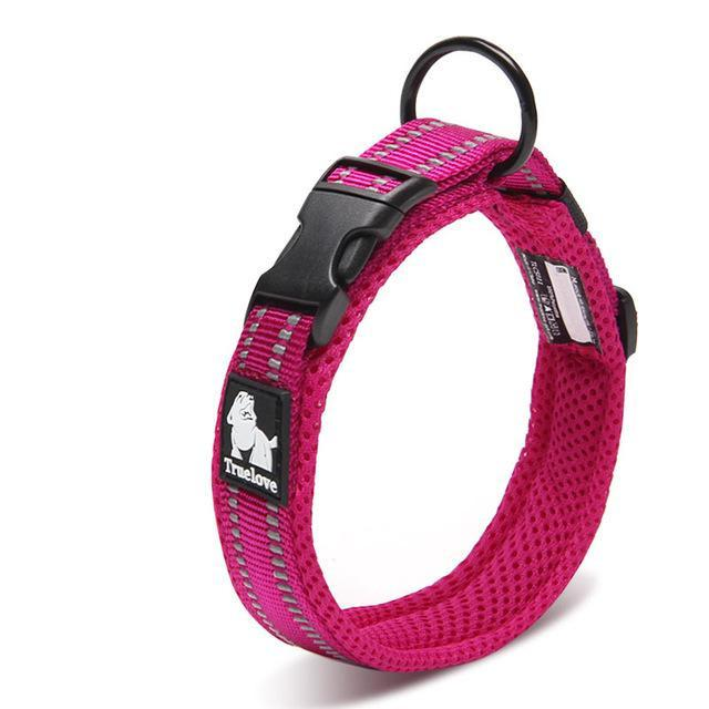 Dog Collars & Harness - Adjustable Mesh Padded Pet Dog Collar; 3M Reflective Nylon Heavy Duty For All Breed All Weather 8 Sizes