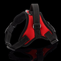 Dog Collars & Harness - Medium Large Dog Harness ~ Reflective Tape Vest ~  Breathable Yarn ~ Comfortable Mesh