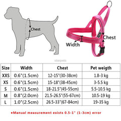 Dog Collars & Harness - Nylon Dog Harness; Reflective Stitching; No Pull Quick Fit; For Small Medium Large Dog; Strong Adjustable;