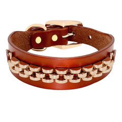 Fashion Leather Dog Collar For Small Medium Dogs