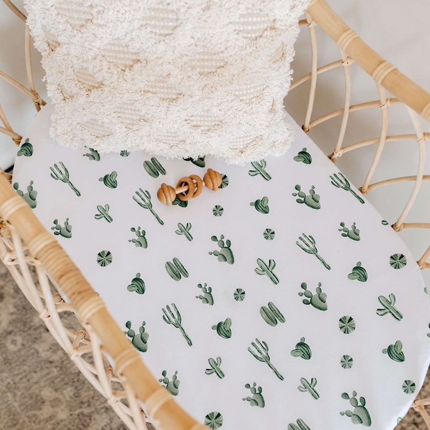 Bassinet Sheet & Change Pad Cover - Cactus