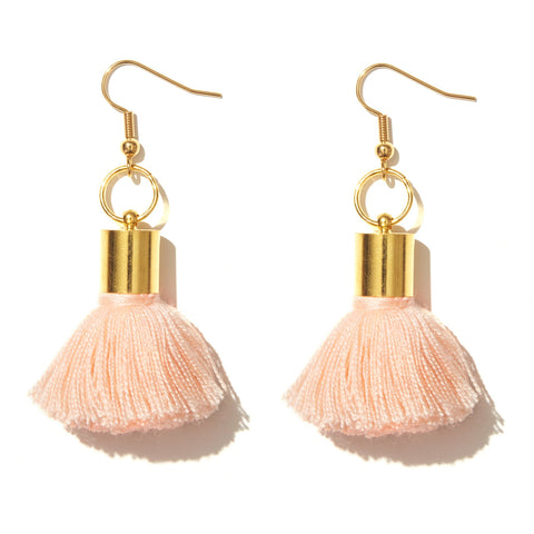Tassel Earrings / Peach