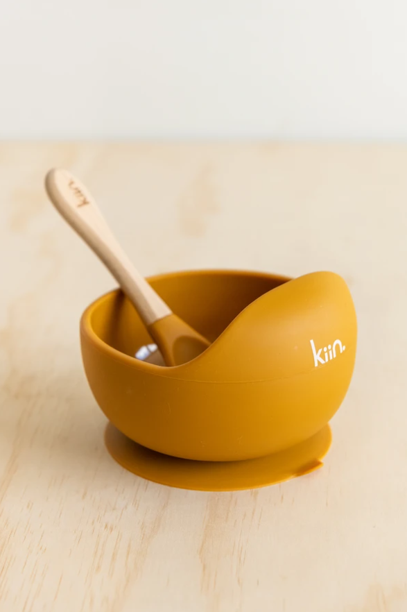 Silicone Bowl + Spoon - Copper
