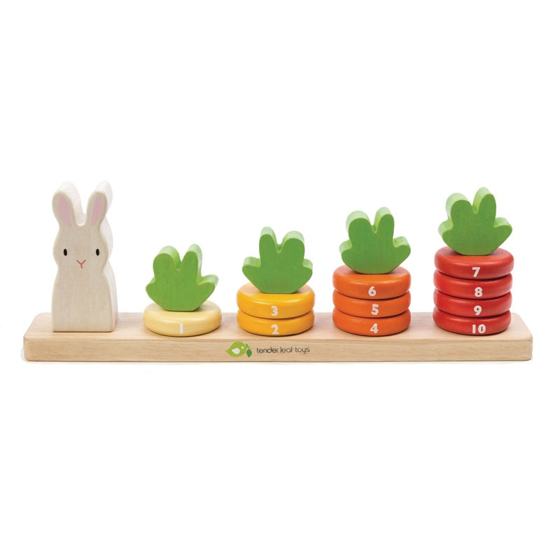 Counting Carrots Wooden Stacker