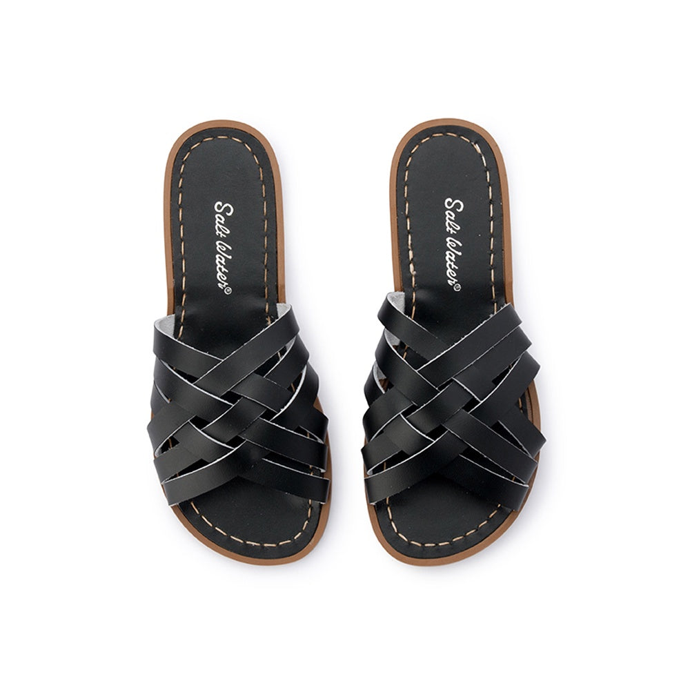 Salt Water Retro Slide - Black
