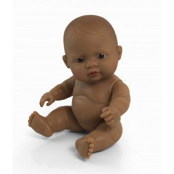 Miniland Doll - Anatomically Correct Baby, Latin American Girl, 21cm