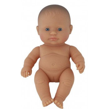Miniland Doll - Anatomically Correct Baby, Caucasian Girl, 21cm