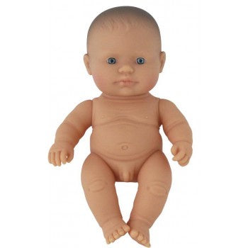 Miniland Doll - Anatomically Correct Baby, Caucasian Boy, 21cm