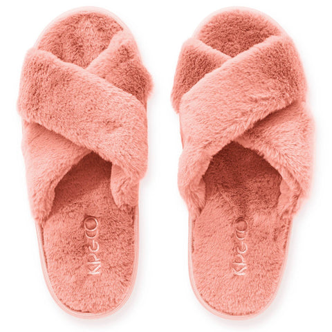Blush Pink Adult Slippers