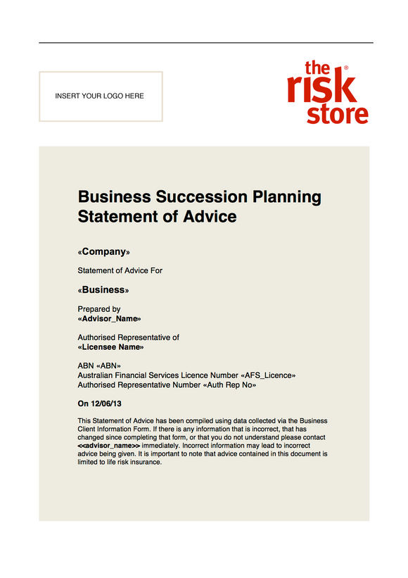 Business Statement of Advice Template