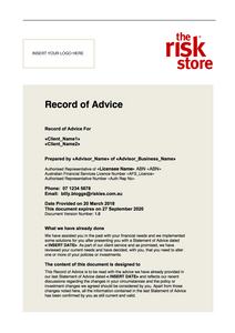 Record of Advice Template