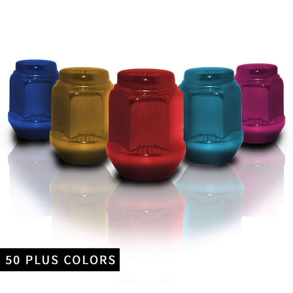 12x1.25 Short Acorn Closed End Lug Nuts - Various Colors | Venum Wheel Accessories
