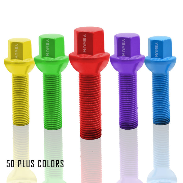 1 Pc 14x1.5 Ball Seat Lug Bolts 45 MM Extended Shank - Powder Coated
