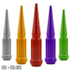 "20 pc 14x1.5 custom color spike spline lug nuts 4.5"" tall powder coated durable coating prismatic powder"