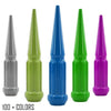 "20 pc 9/16-18 custom color spike spline lug nuts 4.5"" tall powder coated durable coating prismatic powder"