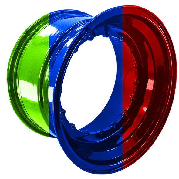 "Custom Color Powder Coating For 15"" Wheel Barrel 1 Pc"