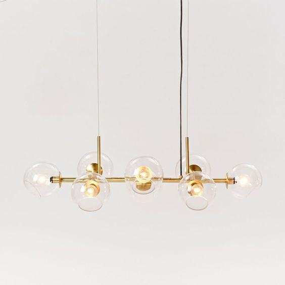 Eira 8 Staggered Glass | Chandelier - Home Cartel ®