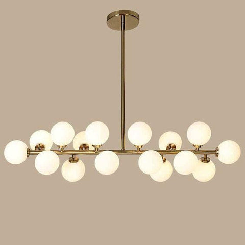 Thilly | Brass with Frosted Glass Chandelier - Home Cartel ®