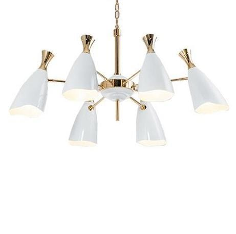 Malaga 6 White | Mid-Century Chandelier - Home Cartel ®