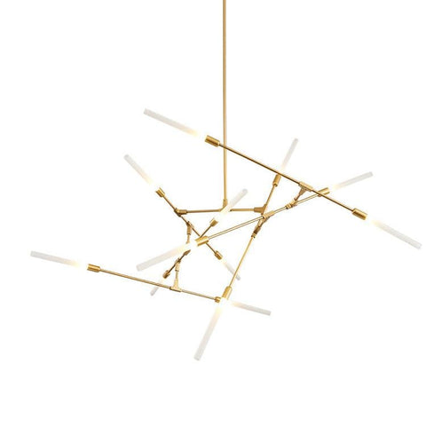 Arinbjorn 12 | Gold w/ Frosted Glass Chandelier - Home Cartel ®