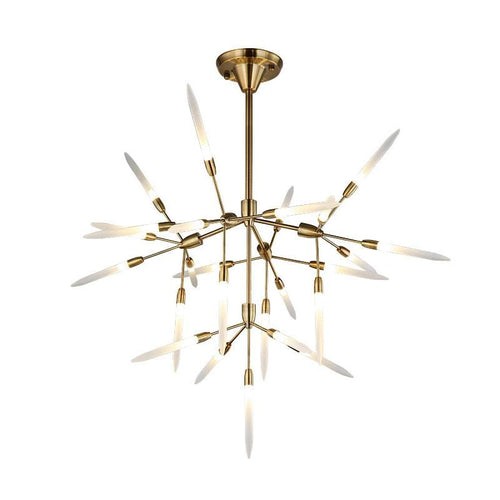 Karïn | Gold Chandelier w/ Frosted Glass - Home Cartel ®
