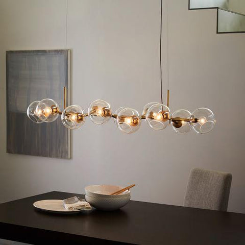 Eira 12 Staggered Glass | Chandelier - Home Cartel ®