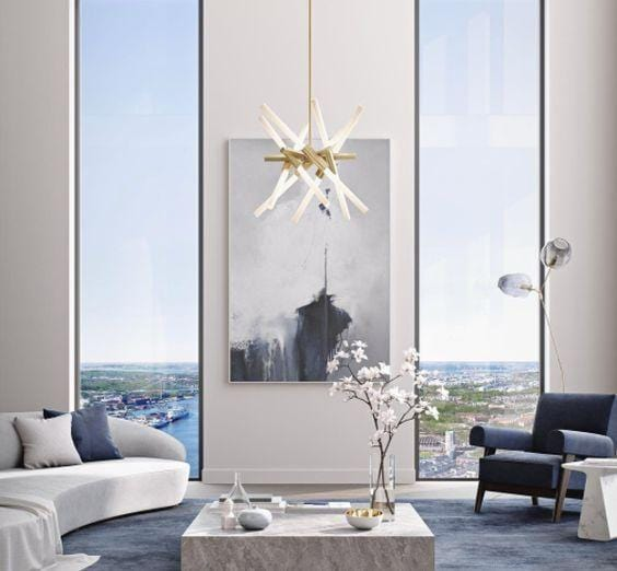 Vita X 12 | Gold w/ Frosted Glass Chandelier - Home Cartel ®